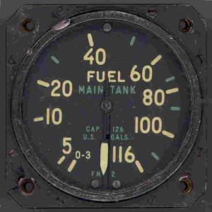 U.S. Navy FM-2 Wildcat Fuel Gauge