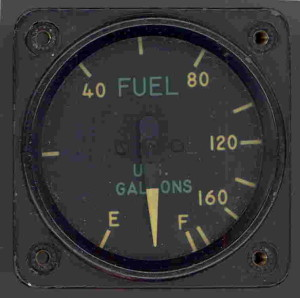 Grumman F-8 Bearcat U.S. Navy Fighter Fuel Gauge