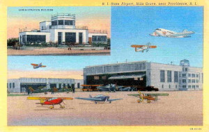 Vintage Hillsgrove Airport Postcard. Today known as T.F. Green State Airport - Warwick, R.I.