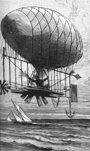 Professor Hogan and his airship - 1889