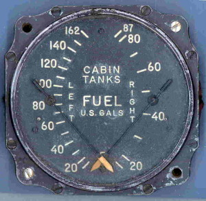 Lockheed PV-1 Ventura Cabin Fuel Tanks Gauge
