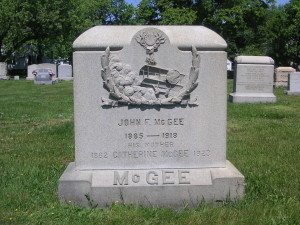 Jack McGee's Grave - Mount St. Mary's Cemetery,  Pawtucket, R.I.