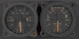 P-38 Lightning Fuel Gauges