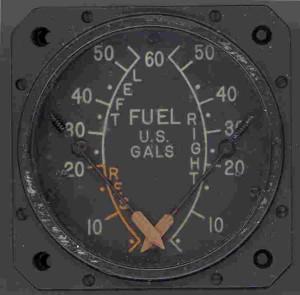 P-39 Aircobra Fuel Gauge