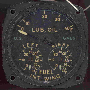 P-47N Thunderbolt Fuel Gauge