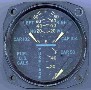 P-51H Mustang Fuel Gauge