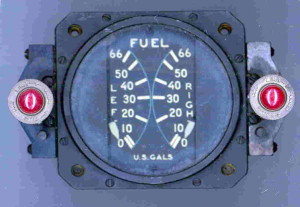 P-63 Kingcobra Fuel Gauge