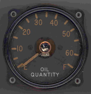 U.S. Navy PBY-2 Catalina Oil Quantity Gauge