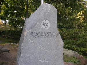 Back Side of Mt. Holyoke B-24 Memorial. Photo Taken 2007