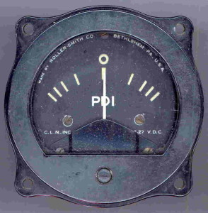 PDI Gauge (Pilot Direction Indicator) Used on WWII Bomber Aircraft