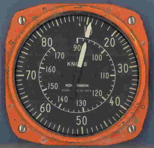 U.S. Navy Link Trainer Knots Gauge - Note Orange Coloring.