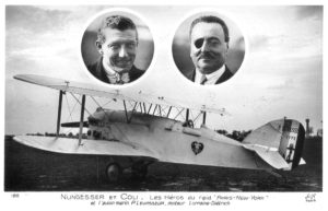A post card image of the White Bird and it's pilots.