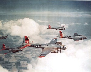 B-17 Bombers In Formation. National Archives Photo