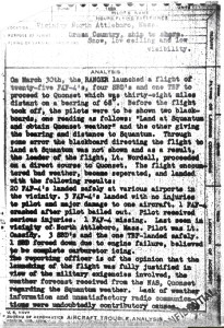 Navy Report on  Lt. Jg. Cassidy's disappearance. #43-6393 CLICK TO ENLARGE