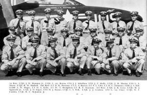 VF-71 Aboard the USS Bon Homme Richard Lt. Jg. Snipes standing third from left, back row. Lt. Jg. Schollian third from left, front row.   U.S. Navy Photo - Click To Enlarge