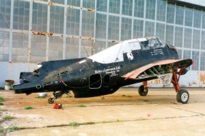 How the Avenger looked upon arrival at the  Quonset Air Museum - 1991 Courtesy Larry Webster, Quonset Air Museum