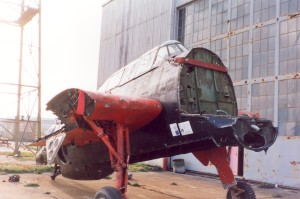 Front view prior to restoration. Courtesy Larry Webster Quonset Air Museum