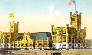 Old Postcard View Of The Providence Armory  And Dexter Training Field - Providence, R.I.