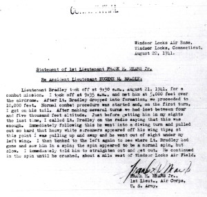 Witness Statement Of 1st Lt. Frank H. Mears, Jr. CLICK TO ENLARGE