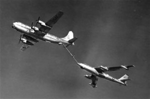 B-47 Stratojet during refueling operations. U.S. Air Force Photo