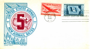 1946 Air Mail First Day Issue