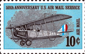 50th Anniversary Of U.S. Air Mail Service Issued May 15, 1968