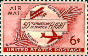 50th Anniversary Of Powered Flight  Air Mail Issued May 29, 1953