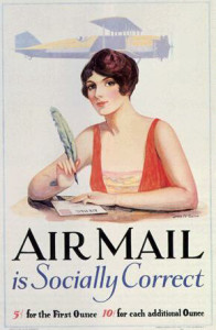 Early Air Mail Advertisement