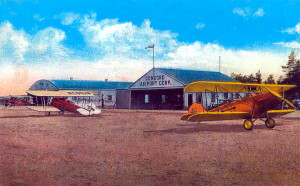 1930s Post Card View Of Concord, New Hampshire, Airport.