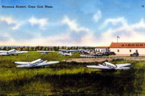 Vintage Post Card View Of Hyannis Airport Hyannis, Massachusetts - Cape Cod