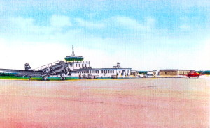Vintage Post Card View Of Martha's Vineyard Airport