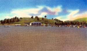 1930s Post Card View Of  St. Johnsbury, Vt. Airport
