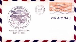 St. Johnsbury Airport Dedication Postal Cover