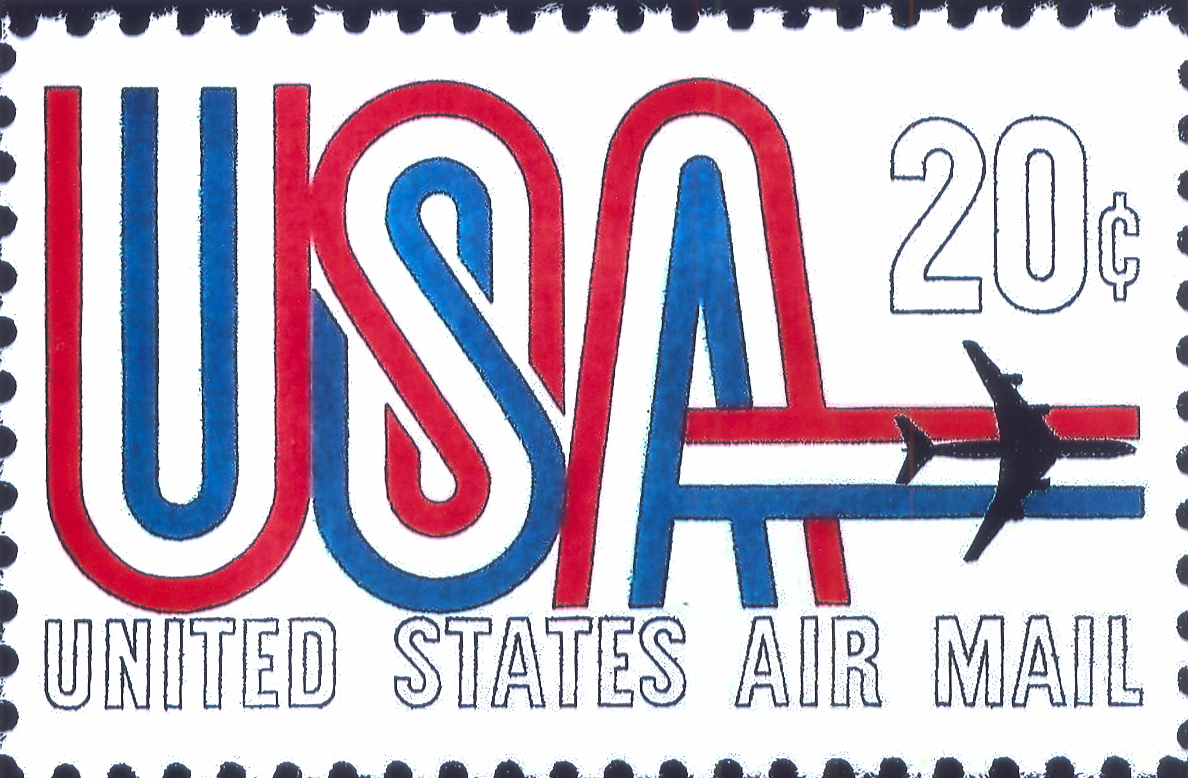20 Cent Air Mail Stamp Issued November 22 1968