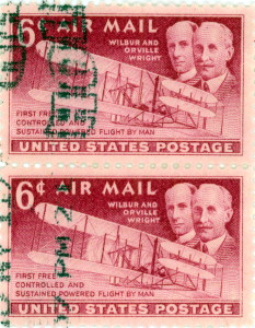 Wright Brothers Air Mail Stamp Issued December 17, 1949