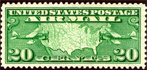 20 cent Air Mail Stamp Issued January 25, 1927