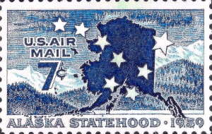 Alaska Statehood Air Mail Stamp Issued January 3, 1959