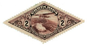 1930s Costa Rica 2 Cent Air Mail Stamp