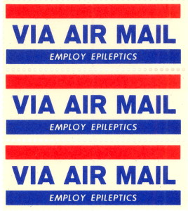 Circa 1950s Employ Epileptics Air Mail Stamp
