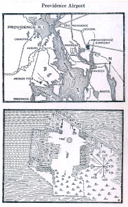1930 Map Of The Providence Airport in Seekonk, Massachusetts.