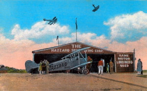 Post Card View of The Hazzard Shoe Flying Corp.
