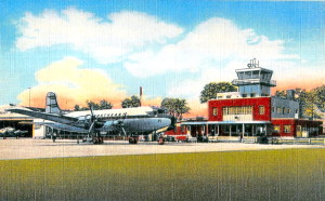 Post Card View Of Portland, Maine,  Municipal Airport