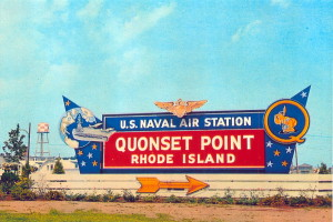 Vintage Post Card View Of The Former Entrance To Quonset Point, NAS.