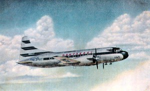Vintage Post Card View Of  Northeast Airlines Convair N91237