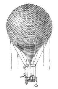 Early balloon with net