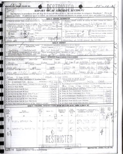 Suggs/Barckhoff Accident Report Face Sheet