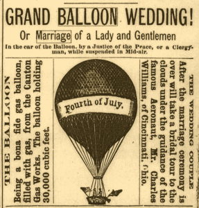 Balloon wedding july 4 1884