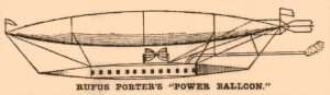 "Rufus Porter's ""Power Balloon"" From a September 20, 1908 newspaper illustration of The Evening Star, of Washington, D.C."
