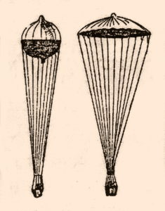 Louis Capazza's Parachute-Balloon, 1892