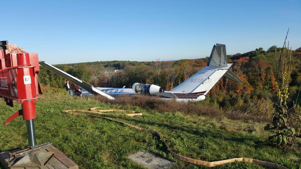 Citation Aircraft Accident Rhode Island